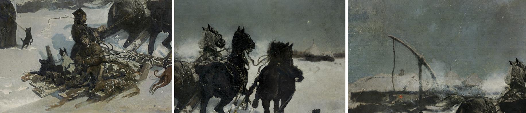 Detale pracy Józefa Chełmońskiego, Noc księżycowa